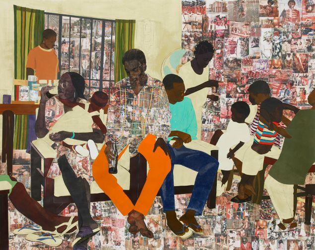 5 Umezebi Street, New Haven, Enugu, 2012 © Njideka Akunyili Crosby Courtesy the Artist and Craig Robbins Collection, Miami, Florida