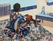 """The Beautyful Ones Are Not Yet Born"" Might Not Hold True For Much Longer - 2013 © Njideka Akunyili Crosby"