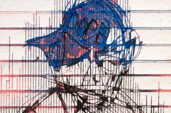Gareth Nyandoro, Kuzviitira (Letter #4), 2015, ink on paper, 42 x 30 cm (detail). © Sylvain Deleu. mounted on canvas, 260 x 410 x 110 cm. © Sylvain Deleu