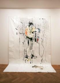 Gareth Nyandoro, Unouraya Ipapo Ipapo (Parasite Instant Killer), 2015, mixed media on paper mounted on canvas, 320 x 260 x 70 cm. Courtesty of the artist and Tiwani Contemporary © Sylvain Deleu.