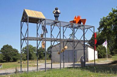 HubHug Sculpture project - Le Rack 2017 photo P. Goasduff