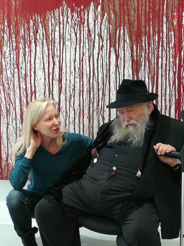 Hermann Nitsch et Denise Wendel-Poray
